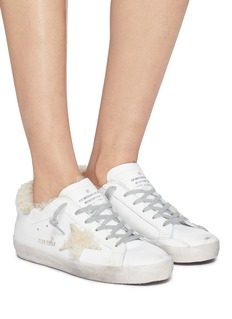 Golden Goose 'Superstar' shearling lined leather sneakers