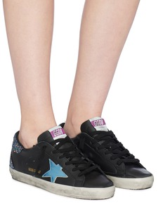 Golden Goose 'Superstar' glitter counter leather sneakers