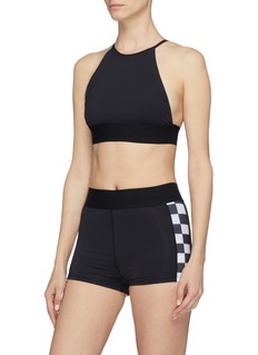 Abysse 'Osa' checkerboard outseam performance shorts