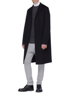 Jil Sander Virgin wool-cashmere melton coat