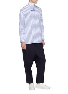 Jil Sander Shifted placket stripe shirt