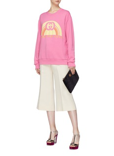 Gucci Rainbow print oversized sweatshirt