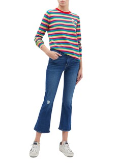 Chinti And Parker x Hello Kitty® appliqué stripe wool-cashmere sweater