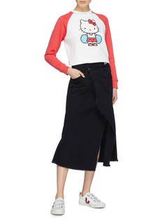 Chinti And Parker x Hello Kitty® graphic print colourblock sweatshirt