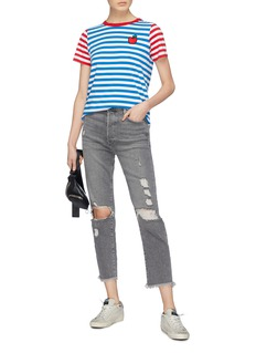 Chinti And Parker x Hello Kitty® graphic appliqué stripe T-shirt