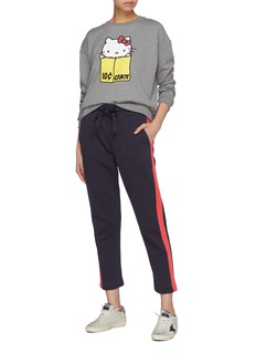 Chinti And Parker x Hello Kitty® stripe outseam slogan embroidered sweatpants