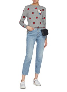 Chinti And Parker x Hello Kitty® apple graphic intarsia cashmere-wool sweater