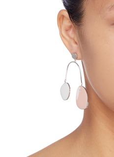OOAK Colourblock geometric arch drop earrings