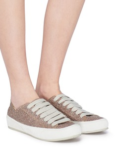 Pedro García 'Parson' glitter flatform sneakers