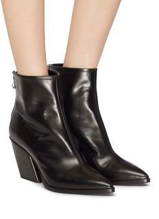 aeyde 'Cherry' slanted heel leather ankle boots