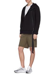 BLACKBARRETT Geometric print neoprene sweat shorts