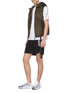 BLACKBARRETT Hooded down puffer vest