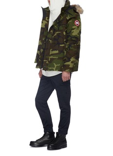 Canada Goose ''Wyndham' coyote fur camouflage print down puffer parka