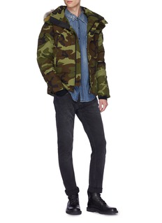 Canada Goose 'Wyndham' coyote fur camouflage print down puffer parka