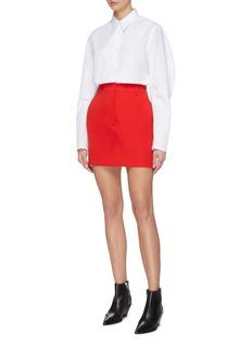 93c3df3561 CALVIN KLEIN 205W39NYC | 'Marching Band' stripe outseam wool twill mini  skirt | Women | Lane Crawford