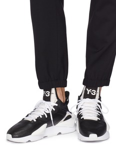 Y-3 'Kaiwa' neoprene counter leather sneakers