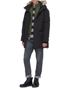 Canada Goose 'HyBridge' down puffer panel Merino wool zip cardigan