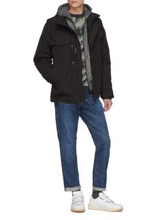 Canada Goose 'WindBridge' nylon panel Merino wool knit zip hoodie