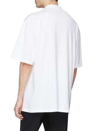 Back View - Click To Enlarge - Calvin Klein 205W39NYC - Logo embroidered oversized mock neck T-shirt