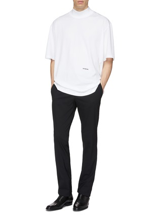 Figure View - Click To Enlarge - Calvin Klein 205W39NYC - Logo embroidered oversized mock neck T-shirt