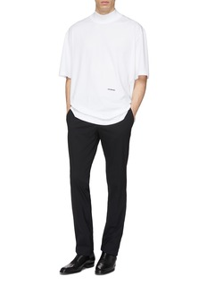 CALVIN KLEIN 205W39NYC Logo embroidered oversized mock neck T-shirt