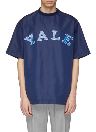 Main View - Click To Enlarge - CALVIN KLEIN 205W39NYC - x Yale University logo print boxy T-shirt