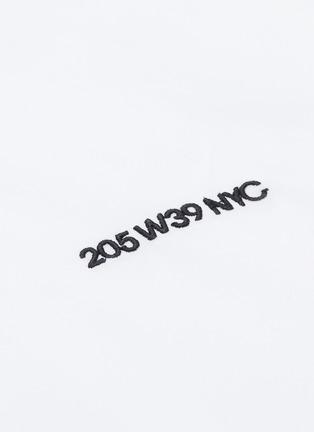 - CALVIN KLEIN 205W39NYC - Logo embroidered shirt