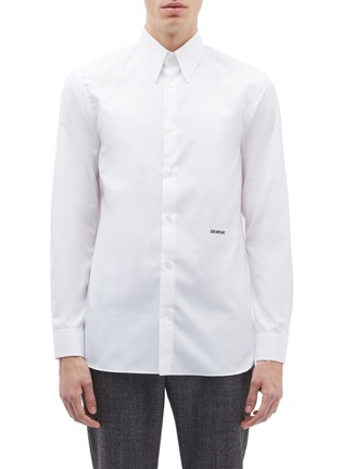 Main View - Click To Enlarge - Calvin Klein 205W39NYC - Logo embroidered shirt