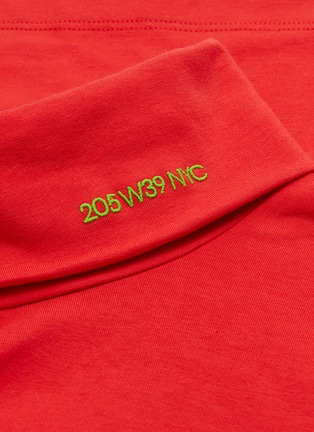 - CALVIN KLEIN 205W39NYC - Logo embroidered turtleneck long sleeve T-shirt