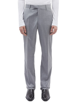 Main View - Click To Enlarge - Calvin Klein 205W39NYC - Stripe outseam wool twill pants