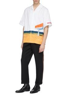 CALVIN KLEIN 205W39NYC Billboard print boxy short sleeve shirt