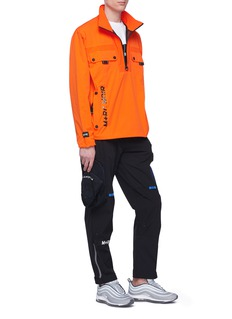 M+RC NOIR Belted ripstop panel cargo track pants
