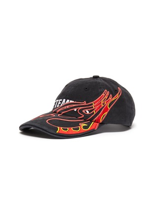 Main View - Click To Enlarge - VETEMENTS - x Reebok 'Fire' graphic logo embroidered baseball cap