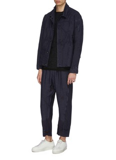 By Walid 'Hiro' floral embroidered linen jogging pants
