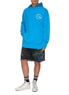 RHUDE Logo print patchwork hoodie