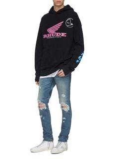 RHUDE 'Rhonda' logo slogan print hoodie