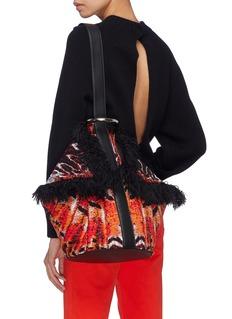 Alexander McQueen 'Butterfly' fringe jacquard shoulder bag