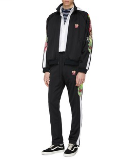 doublet 'Chaos' embroidered stripe sleeve track jacket