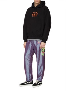 doublet 'Chaos' embroidered outseam track pants