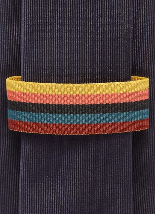 Detail View - Click To Enlarge - PAUL SMITH - 'People' graphic embroidered silk tie