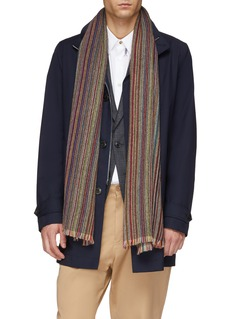 Paul Smith 'Artist Stripe' cashmere herringbone scarf