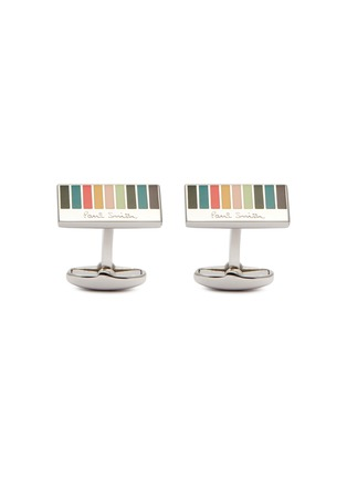 Main View - Click To Enlarge - PAUL SMITH - Enamel stripe cufflinks