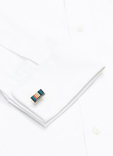 Paul Smith Enamel stripe cufflinks