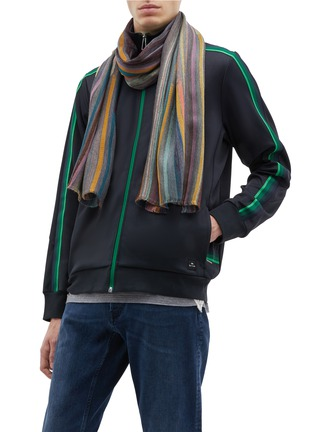 Figure View - Click To Enlarge - PAUL SMITH - Paintstroke scarf