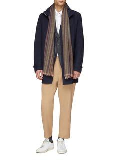 Paul Smith Detachable vest Loro Piana Green Storm System® wool coat