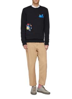 Paul Smith 'Explorer' mix motif embroidered sweatshirt