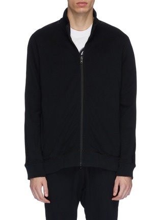 Main View - Click To Enlarge - REIGNING CHAMP - Camouflage stripe sleeve track jacket