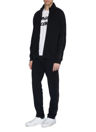 Figure View - Click To Enlarge - REIGNING CHAMP - Camouflage stripe sleeve track jacket