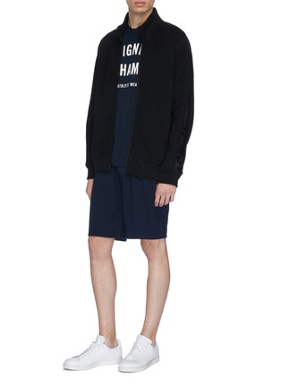 Figure View - Click To Enlarge - Reigning Champ - Flatlock seam sweat shorts