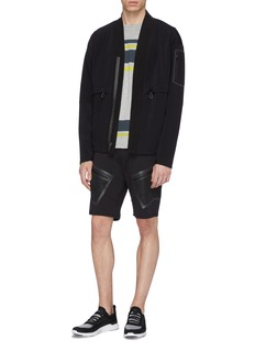 DYNE 'Renzo' mesh pocket water-resistant running shorts